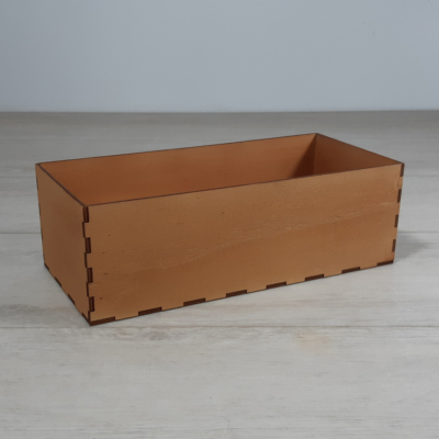 Doboz - 24,5x11,5cm, 8cm magas, festett