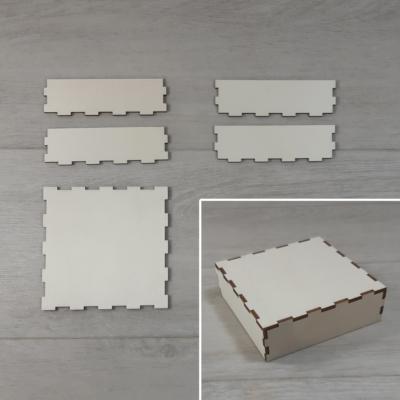 Doboz tető, lapraszerelt - 11,5x11,5-ös dobozhoz, natúr