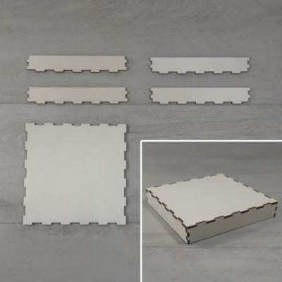 Doboz tető, lapraszerelt - 15x15-ös dobozhoz, natúr