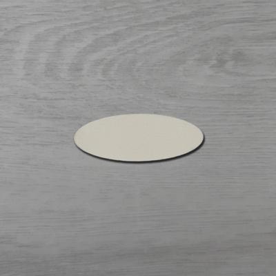 Ovális alakú tábla - 6x2,3cm, natúr