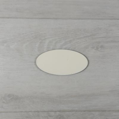 Ovális alakú tábla - 4x2cm, natúr