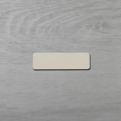 Téglalap alakú tábla, kerekített sarokkal - 6x2,3cm, natúr