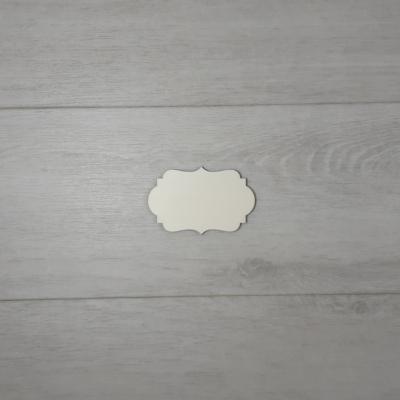 Bandy tábla - 6x3,9cm, natúr