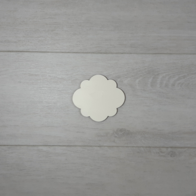 Cloudy tábla - 6x5,4cm, natúr