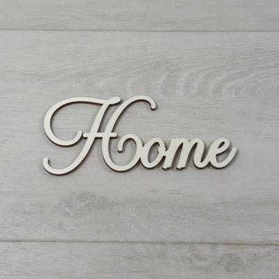 Home felirat - 'Cloe' betűtípussal, 12cm széles, natúr