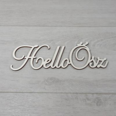 Hello Ősz felirat, 1 soros -  'Cloe' betűtípussal, 21cm széles, natúr