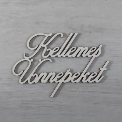 Kellemes Ünnepeket felirat - 'Cloe' betűtípussal, 15cm széles, natúr