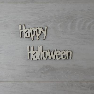 Happy Halloween felirat - külön, 'Monster', 10cm, natúr