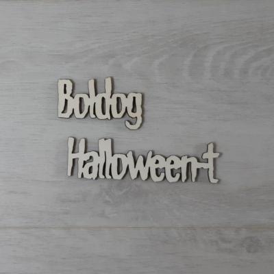 Boldog Halloween-t felirat - külön, 'Monster', 10cm, natúr
