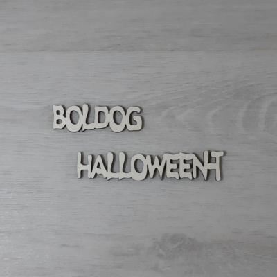 Boldog Halloween-t felirat - külön, 'Ghost', 10cm, natúr