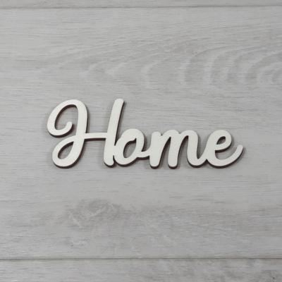 Home felirat - 'Molly' betűtípussal, 12cm széles, natúr