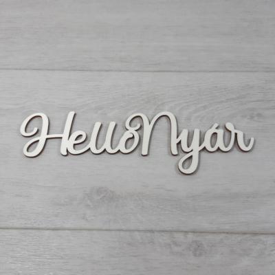 Hello Nyár felirat, 1 soros -  'Molly' betűtípussal, 21cm széles, natúr