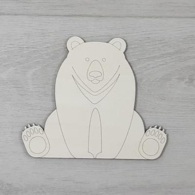 Fekete medve - 12,5cm, natúr