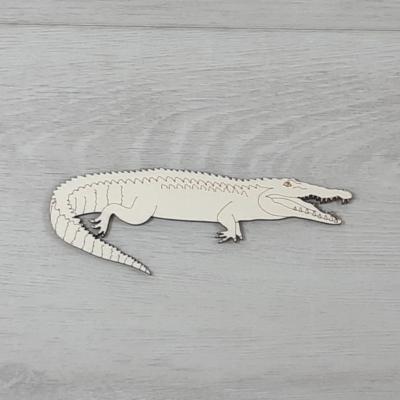 Krokodil - 14cm, natúr