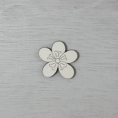 Boglárka virág - 3cm, natúr