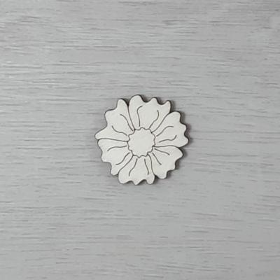 Mák virág - 3cm, natúr