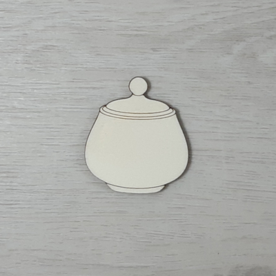 Cukordoboz - 5cm, natúr