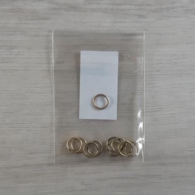 Szerelőkarika - sárgaantik, 9x1mm, 10db
