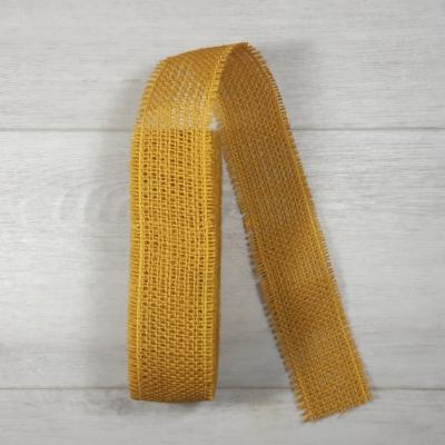 Juta szalag - 5cm-es, mustár