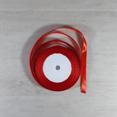 Szatén szalag - 10mm-es, piros