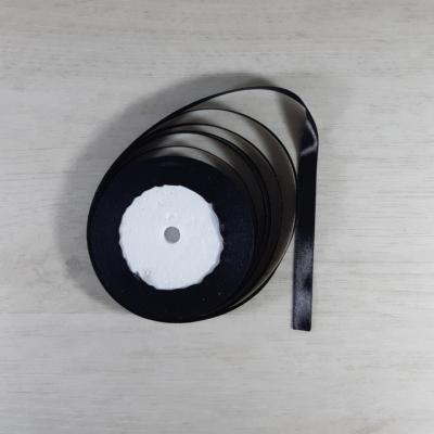 Szatén szalag - 10mm-es, fekete