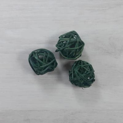 Vesszőkoszorú - barna, 15cm