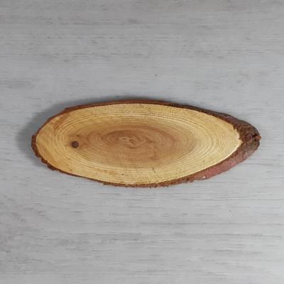 Fa szelet, ovális - natúr, 12-15cm