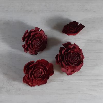 Cédrus rózsa - piros, 4db