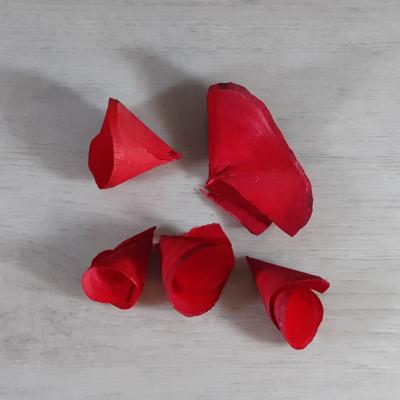 Fa tölcsér virág - piros, 5db