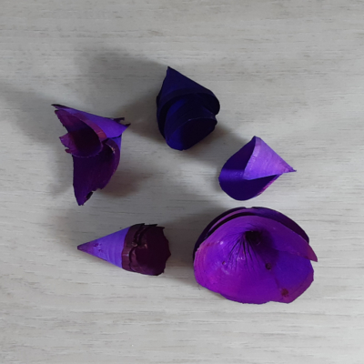 Fa tölcsér virág - lila, 5db