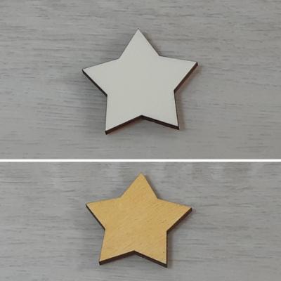 Csillag, 5 ágú, 2 - 5cm, natúr
