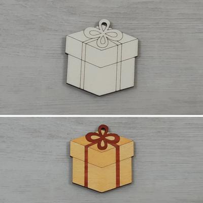 Doboz, kocka - 5cm, natúr