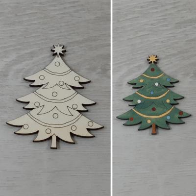 Karácsonyfa - 8cm, natúr