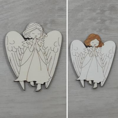 Angyal, imádkozó 1 - 8cm, natúr