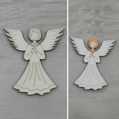 Angyal, imádkozó 2 - 8cm, natúr