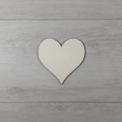 Szív alakú tábla - 3cm, natúr