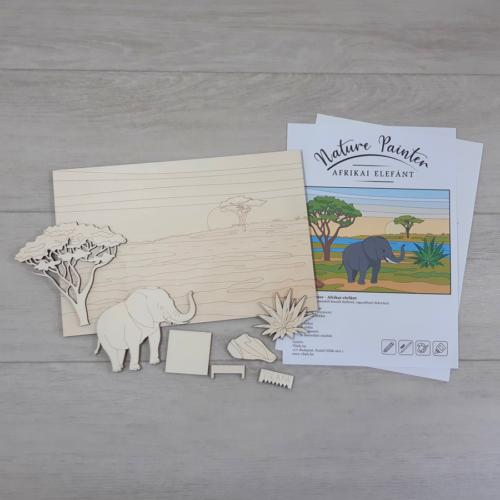 Afrikai elefánt - Nature Painter kifestő csomag, 30x20cm