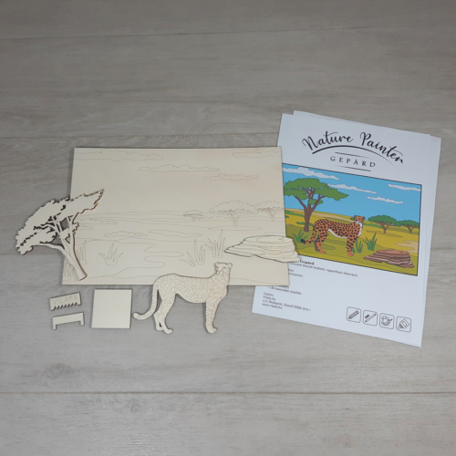 Gepárd - Nature Painter kifestő csomag, 30x20cm