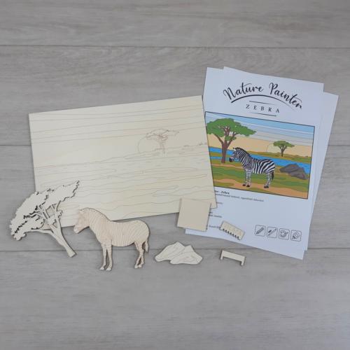 Zebra - Nature Painter kifestő csomag, 30x20cm