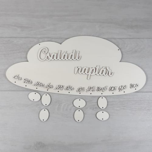 Családi naptár kreatív csomag - felhő, Molly