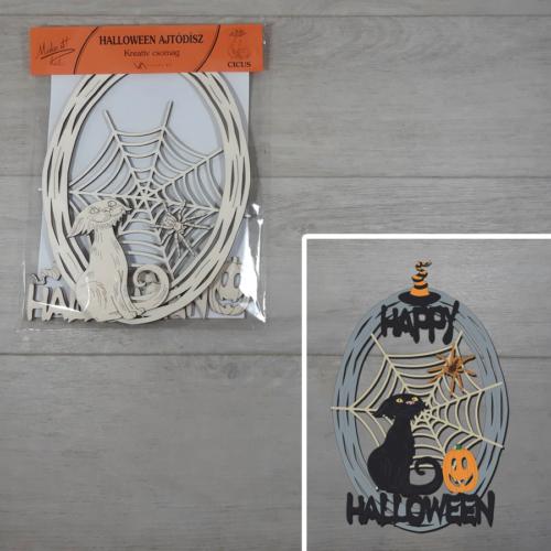 Halloween kreatív csomag - Cicus, kb. 21,5x30cm