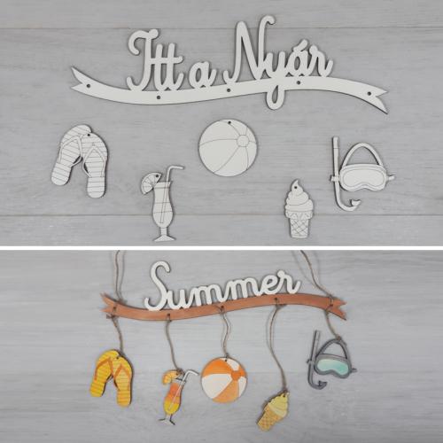 Nyaralás nyári dísz kreatív csomag - 30cm