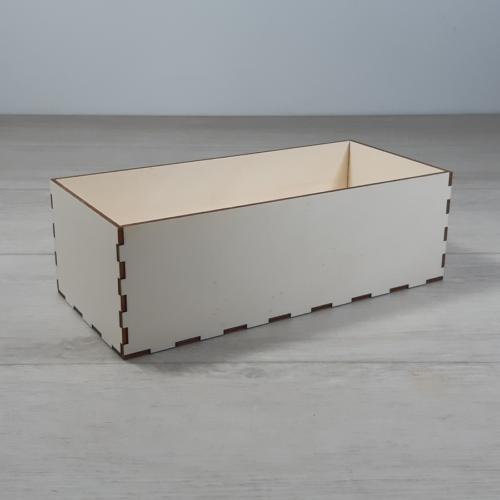 Doboz - 24,5x11,5cm, 8cm magas, natúr