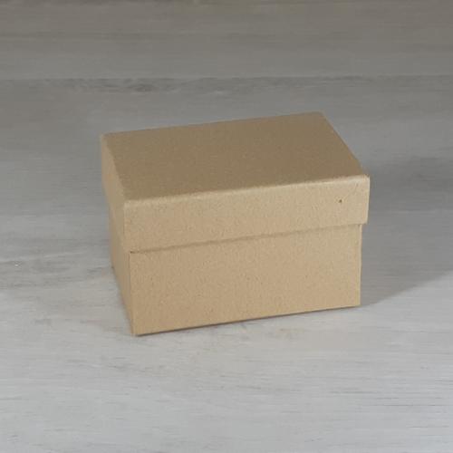Papír doboz tetővel - téglalap, 9,5x6,5cm, 6cm magas, natúr