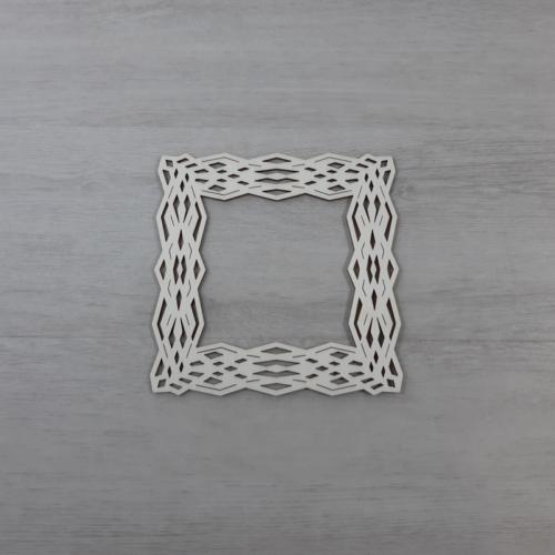 Koszorúalap - 12cm, négyzet, natúr