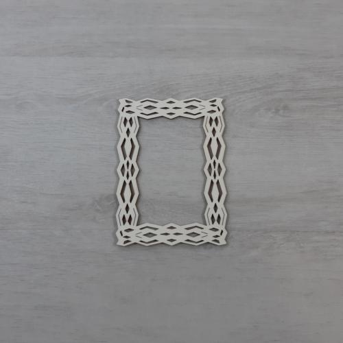 Koszorúalap - 12x8,5cm, téglalap, natúr