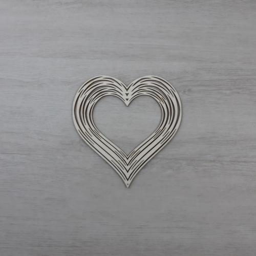 Koszorúalap - 12x11,5cm, szív, natúr