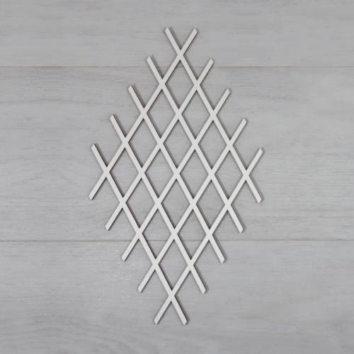Rácsos koszorúalap - 15cm, rombusz, natúr