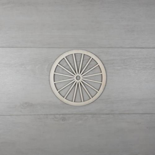 Szekér kerék - 15cm, natúr