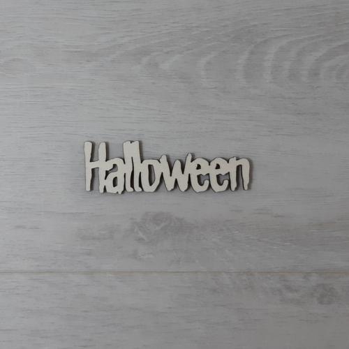 Halloween felirat - 'Monster', 10cm, natúr